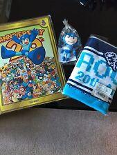 Mega Man Rockman 20th Anniversary Art Files Book, Keychain and Towel