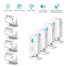 4x Welcome Chime Wireless Infrared Pir Motion Sensor Alarm Aler Doorbells Kit