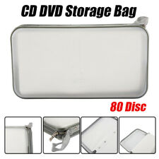 Storage Wallet Organizer Bag CD DVD Holder Media Case Box Car Hold 80 Disc White