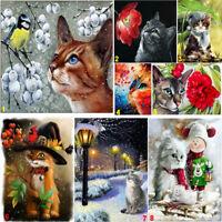 Full Drill Cat DIY 5D Diamond Painting Cross Crafts Stitch Kits Home Decor