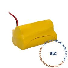 Emergency Light Exit Sign 2pk Battery 3.6V 700mAh NiCad BAA36