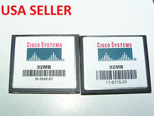 2 pcs (USED) 32MB Cisco CompactFlash  CFI  memory card for older cameras,routers