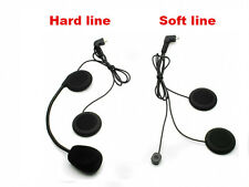 Soft Line Headset Earpiece Headphone Mic For T-COM COLD FDC Helmet BT Intercom