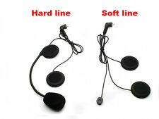 2X Single Soft Line Headset Headphone Mic For T-COM COLD FDC Blue-tooth Intercom