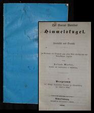 1844 Himmelskugel Lateinisch & Deutsch Astronomicon libri V Astronomie Manilius