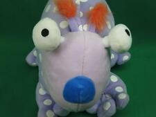 "TOYS ""R"" US 2008 PURPLE WHITE POLKADOT WACKY EYES MONSTER PLUSH STUFFED ANIMAL"