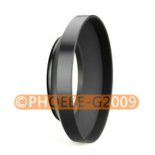 49mm metal wide angle screw in mount lens hood for Canon Nikon Pentax Sony