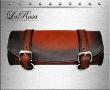 La Rosa Vintage Shedron Leather Harley Universal Fitting Front Fork Tool Bag