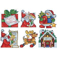 Design Works Cross Stitch Kit - Santa's Workshop Ornaments(6) on Plastic Canvas
