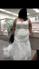 0c77df62f348 Ivory Wedding Dress Size 24 New With Tag Never Worn Belt not included Smoke  free