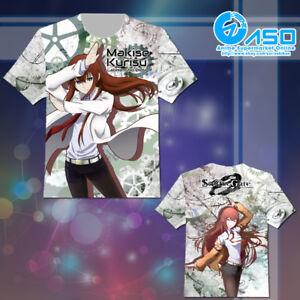 Anime T shirt Steins Gate 0 zero Makise Kurisu Unisex Short Casual Tee Tops Gift