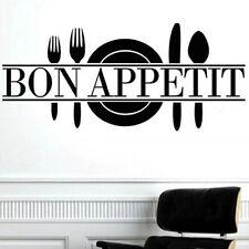 """ Bon Appetit "" Art Quote Living Room Kitchen Vinyl Wall Mural Decal Sticker"