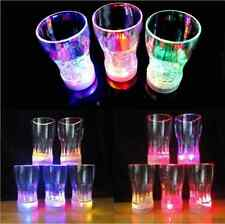 6-LED Flash Light Whisky Shot Drink Glass Cup Beer Bar Party Wedding Club Yunosg