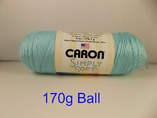 Aran Yarn Caron Simply Soft Knitting Crochet Wool - No Dye Lot Yarn - 60 Colours