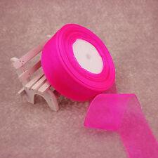 "1 Roll 50 Yards Satin Edge Sheer Organza Ribbon Bow Crafts Wedding 3/8"" 9MM New"