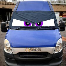 Iveco Black Out Blind Window Screen Cover Camper Van Curtains Eyes Purple
