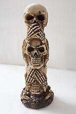 3 Totenköpfe Figur Nichts böses sagen... ca. 19 cm Gothic Deko Skull Schädel Tot