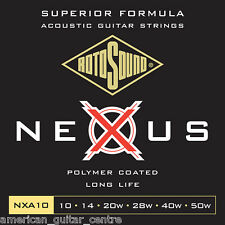 Rotosound Nexus Coated Acoustic Guitar Strings 10-50