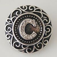 Fits Ginger Snap Ginger SNAPS LETTER C Initial Magnolia Vine JEWELRY 18mm Charm