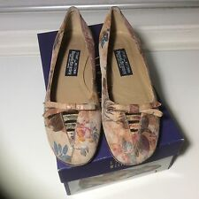 Stuart Weitzman for Russell & Bromley floral suede flats uk 5