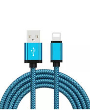 2 metros trenzado Cable Usb Para Iphone 5/6/7/8/X 2A Cable De Cargador Rápido De Iluminación