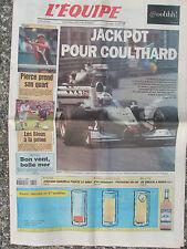 L'Equipe du 5/6/2000 - Coulthard - Pierce -France-Japon - Garzelli - Serrano