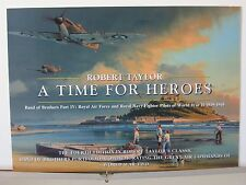 A Time For Heroes RAF Mk I Spitfires Aces Robert Taylor Aviation Art Brochure