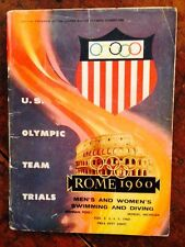 1960 Men's & Women's Swimming & Diving Championships USA OLYMPIC TRIALS program!