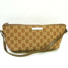 GUCCI GG Pattern Canvas Accessory Pouch Cosmetic Pouch Purse Brown 039 1103 2000