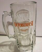 "NEW 8"" Tall Samuel Sam Adams Octoberfest Glass Beer Mug Stein ""Raise The Stein"""