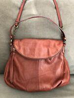 Margot Women's Adelle Handbag Purse Whiskey Pebbled Leather Crossbody Hobo Bag