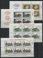 India 1989 World Philatelic Exhibition 5 Different Sets of MNH Booklet Panes