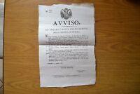 ANTICO AVVISO REGIA DELEGAZIONE VENEZIA RESTAURO PONTE SULLA BRENTA  1817