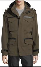 NWT Berluti x Haider Ackermann 56 44 XL Green Drawstring Field Jacket Leather