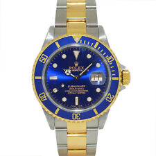ROLEX 16613 Submariner Two Tone Blue Dial Automatic Watch