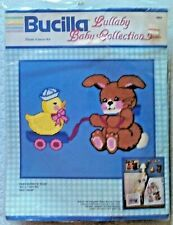 Baby Bunny N' Toys wall hanging plastic canvas Kit, NEW