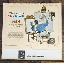 Vtg 1984 Norman Rockwell Appointment Calendar Excellent Lithos