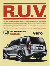 HONDA PILOT 2009 magazine ad photo print art clipping car automobile RUV advert