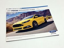 2017 Ford Focus S SE SEL Titanium ST RS Electric Appearance Guide Brochure