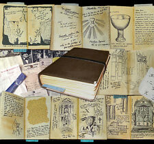 Indiana Jones Grail Diary Prop Replica - with many inserts - Story Prop