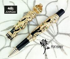 free ship JINHAO Rollerball pen Snake serial GOLD + 2 refills BLUE ink