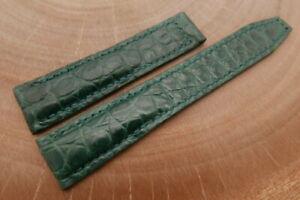 20mm/18mm Dark Green Genuine ALLIGATOR Leather Watch Strap for Maurice Lacroix