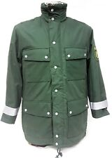 "New German Gortex Military Police Coat Parka With Hood Med Long 35""-39"" Chest"