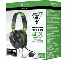 CUFFIE TURTLE BEACH RECON 50X CUFFIA WIRED GIOCO XBOX ONE PS4 STEREO MICROFONO