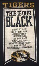 ESPN U Missouri Tigers This Is Our Black Gildan Cotton Tee T Shirt Men's XL New