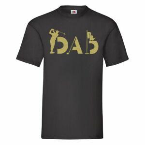 Golf Dad T Shirt Black Size 2XL