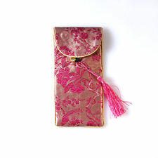 Chinese Silk Embroidery Wedding Gift Pouch Bag, mixed color