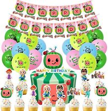 42pcs cocomelon party supplies decorations, cocomelon balloons birthday kids