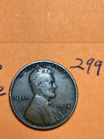 1914-S LINCOLN WHEAT CENT, rare date, Higher Grade Fine #299