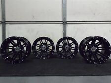 "YAMAHA WOLVERINE 450 12"" STI HD3 BLACK ALUMINUM ATV WHEELS ( SET 4 ) SRA1CA"